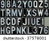 Grunge alphabet so you can compose your message - stock photo