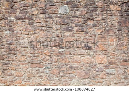 Grunge and Vintage Brick Wall - stock photo