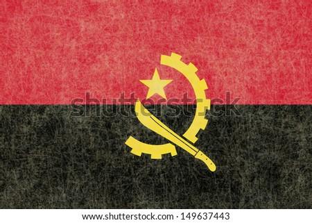 Grunge Angola Flag - stock photo