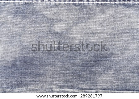 grunge background, bright jeans fabric texture subtle lines pattern - stock photo
