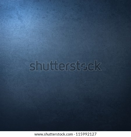 grunge background texture, dark blue painted wall texture with abstract highlight corner as interior background - stock photo