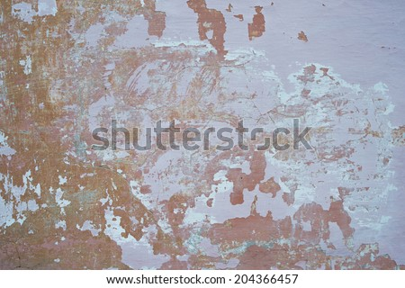 grunge background textured wall with Old peeling cracked chipped paint on wooden surface - stock photo