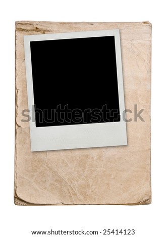 grunge background with blank vintage card with soft shadow - stock photo