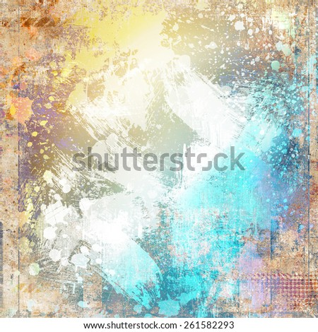 Grunge background with blots - stock photo