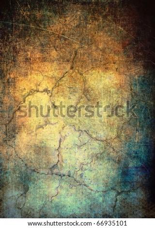 Grunge background with cracks - stock photo