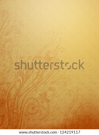 Grunge background with floral elements. - stock photo