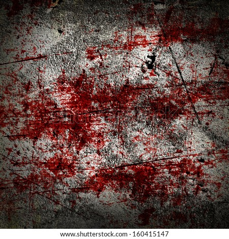 grunge background with some red blood splatter on it - stock photo