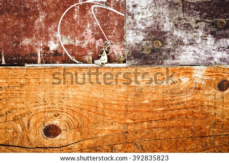 Grunge background with space / Wooden background - stock photo