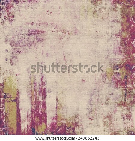 Grunge background with vintage and retro design elements. With different color patterns: yellow (beige); gray; purple (violet); pink - stock photo