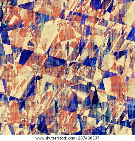 Grunge background with vintage and retro design elements. With different color patterns: yellow (beige); brown; red (orange); blue - stock photo