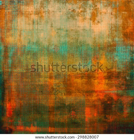 Grunge background with vintage and retro design elements. With different color patterns: yellow (beige); brown; green; red (orange) - stock photo