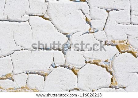 grunge background - wood with cracked paint - stock photo