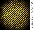 Grunge background, yellow and black stripes - stock photo