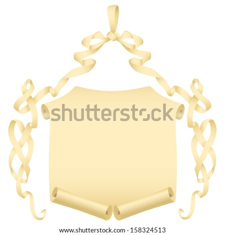 Grunge banners and scroll set   - stock photo