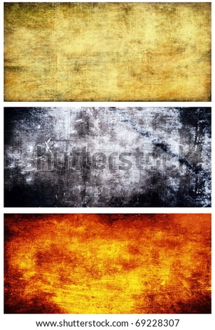Grunge banners collection set - stock photo