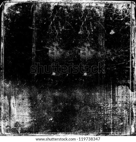Grunge black background - stock photo