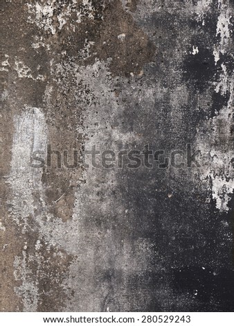 grunge black concrete wall texture - stock photo