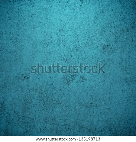 Grunge blue plaster or concrete texture or background. - stock photo