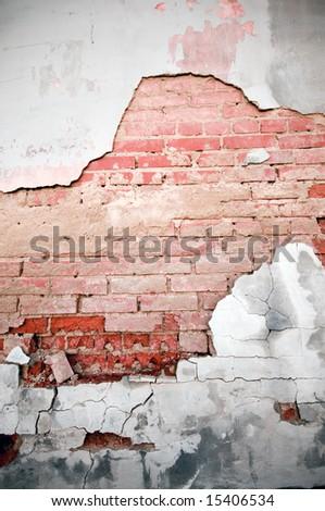 Grunge brick texture - stock photo