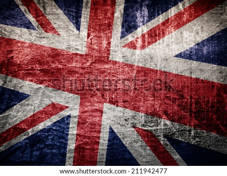 grunge British flag  - stock photo