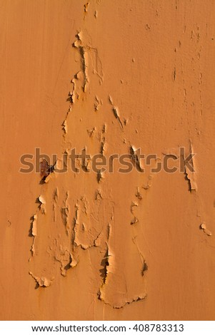 grunge brown painted metal wall - detailed photo texture - stock photo
