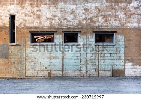 grunge building background - stock photo