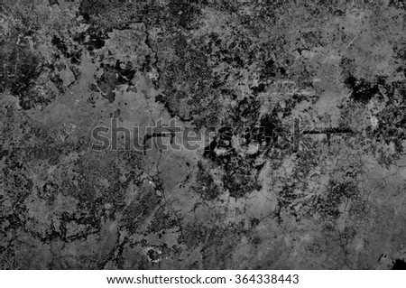 Grunge cement wall in black and white style for texture background - stock photo