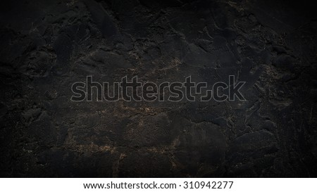 Grunge Charcoal Black Background Wall Texture - stock photo