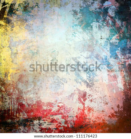 Grunge colorful background, blue and red color illustration - stock photo