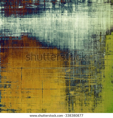 Grunge colorful background or old texture for creative design work. With different color patterns: yellow (beige); brown; blue; green - stock photo