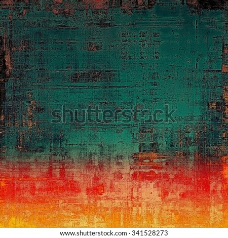 Grunge colorful background. With different color patterns: yellow (beige); blue; green; red (orange) - stock photo