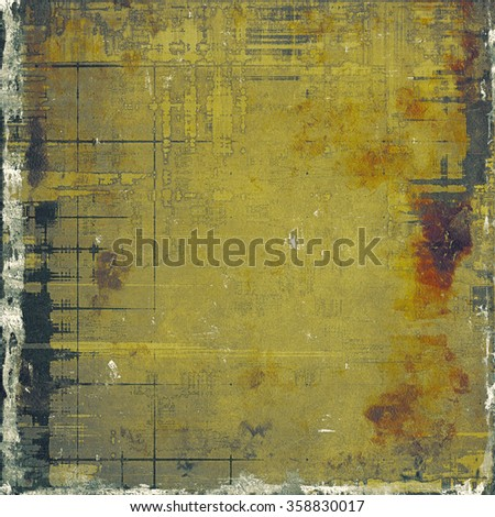 Grunge colorful background. With different color patterns: yellow (beige); brown; gray; black - stock photo