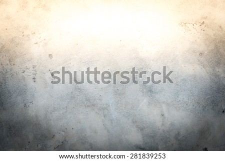 Grunge concrete wall with sun light effect - stock photo