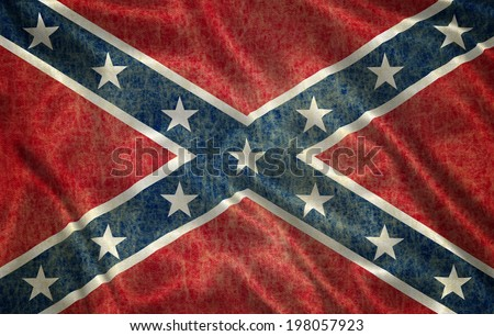 Grunge Confederate Flag - stock photo