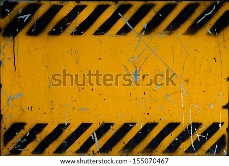 Grunge construction sign for background. - stock photo