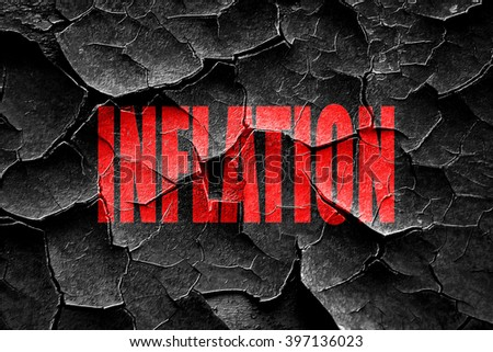 Grunge cracked Inflation sign background - stock photo
