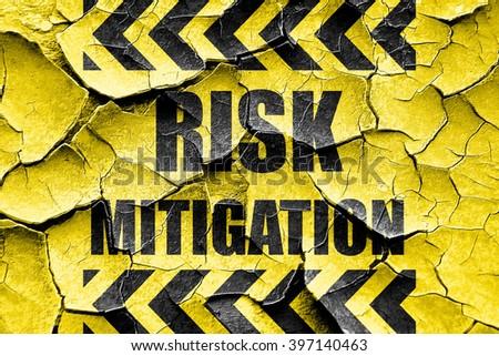 Grunge cracked Risk mitigation sign - stock photo