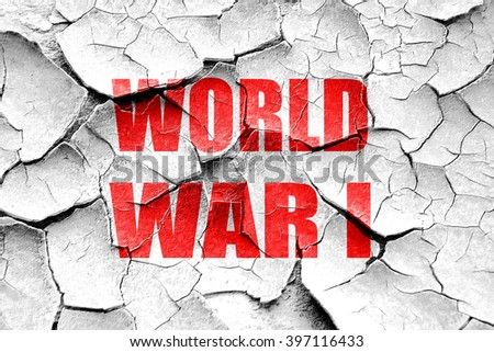 Grunge cracked World war 1 background - stock photo