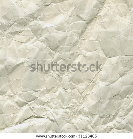 grunge, crumpled, wrinkled and creased white paper background - stock photo