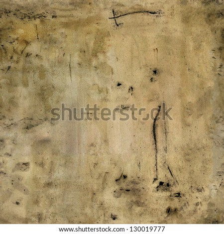 Grunge dirt background. Concrete, stucco, plaster texture - stock photo