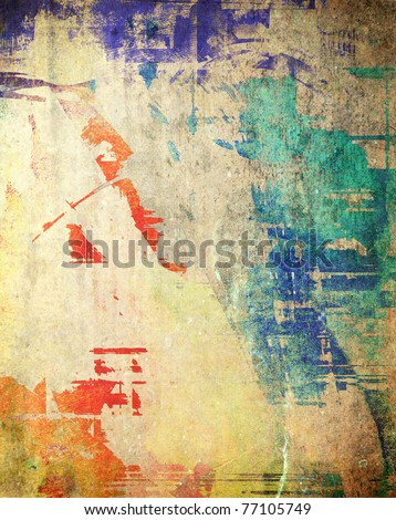 Grunge dirty background, colorful texture - stock photo