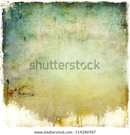 Grunge dripping blue background - stock photo