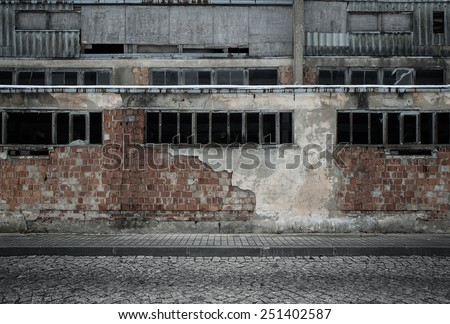 Grunge empty industrial background - stock photo