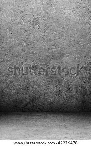 grunge empty room - stock photo