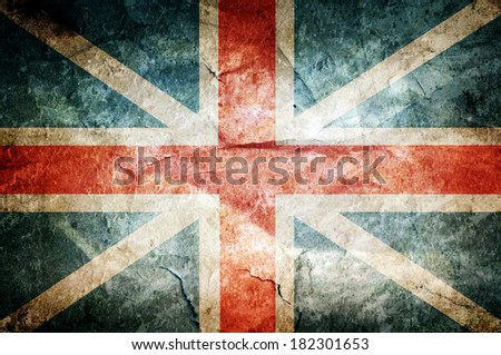 Grunge England flag on dirty paper - stock photo