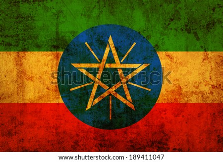 Grunge Ethiopia flag  - stock photo