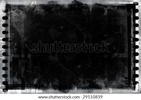 grunge film background - stock photo