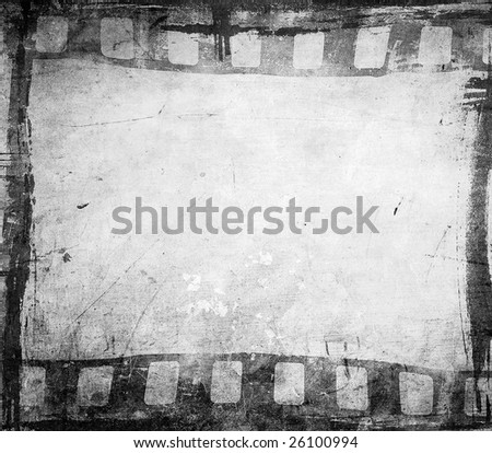 grunge film background with space for text or image - stock photo