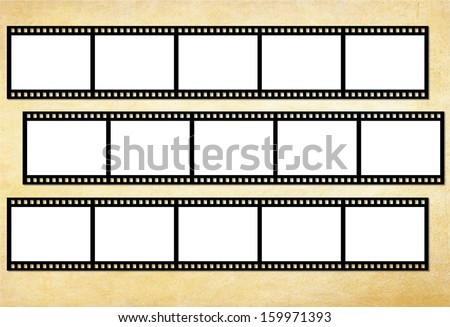Grunge film frames - stock photo