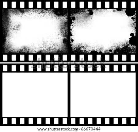 grunge film strip - stock photo